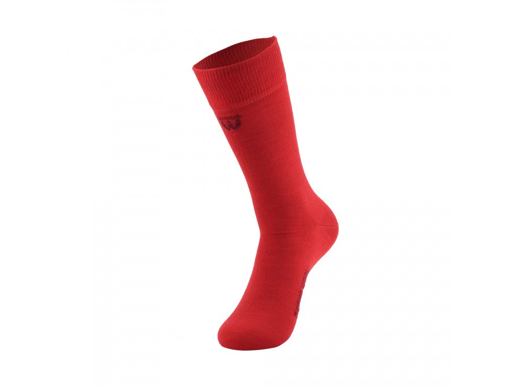 Walkee ponožky z merino vlny - červené