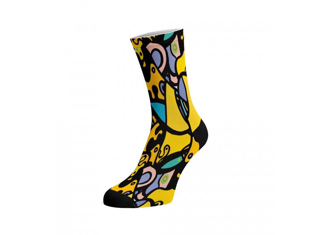 Walkee barevné ponožky - Yellow Mash