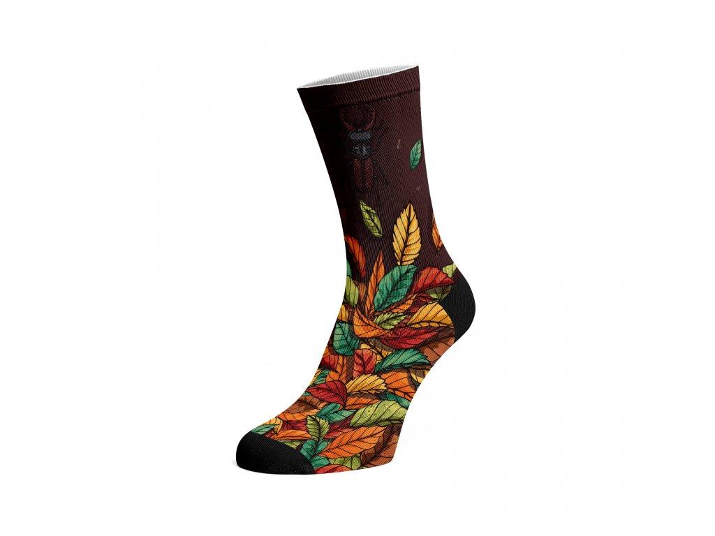 Walkee barevné ponožky -  Autumn Leafs