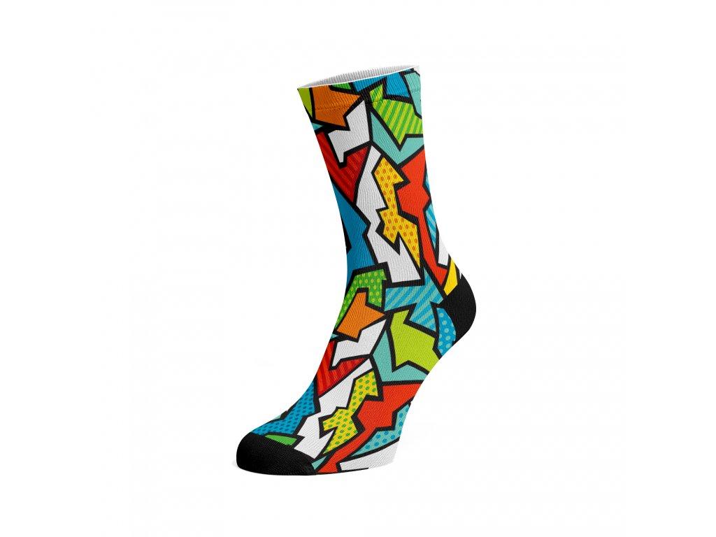 Walkee barevné ponožky - Mozaik