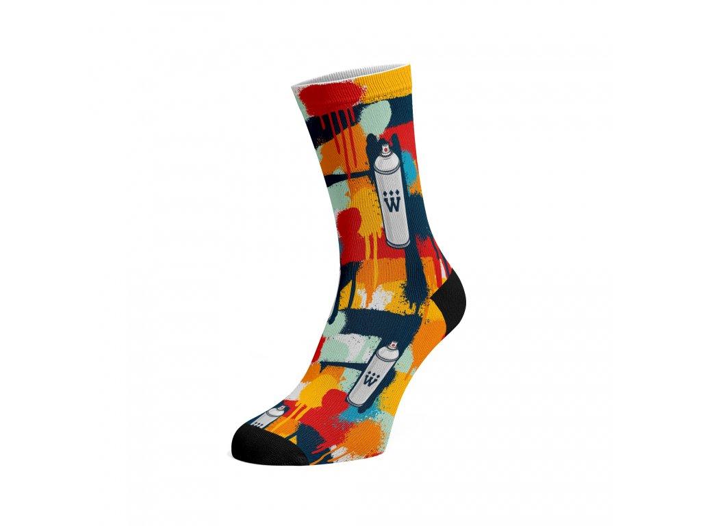 Walkee barevné ponožky -  Graffiti