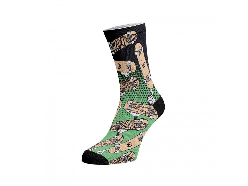 Walkee barevné ponožky -  Pop art skate