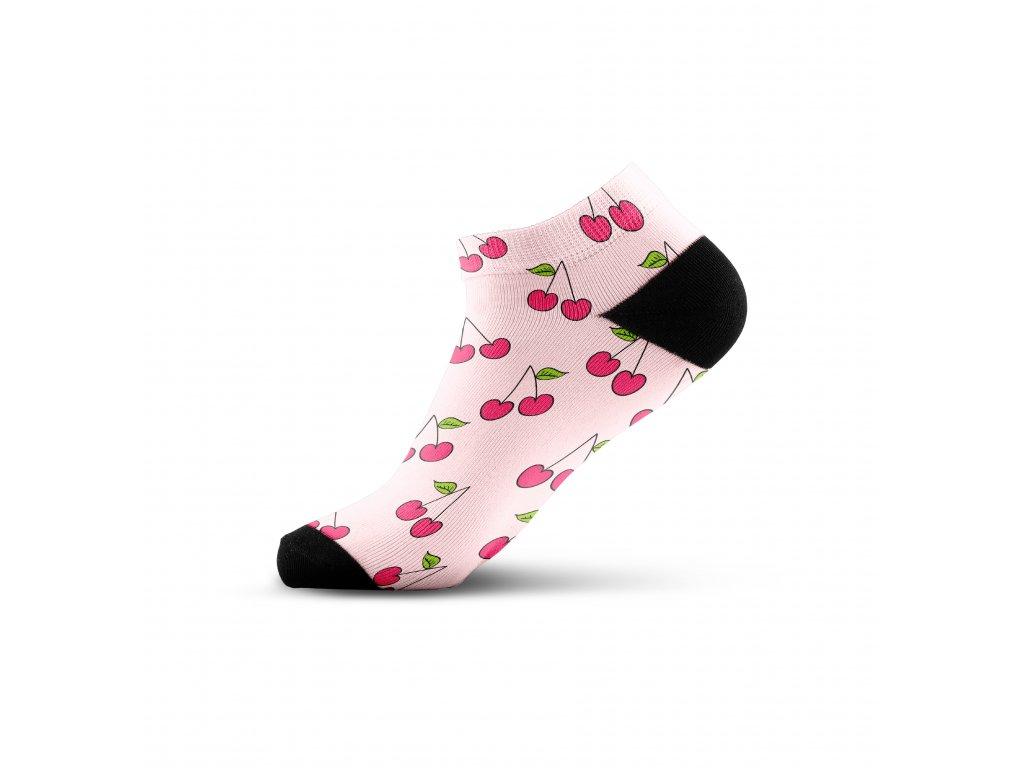 Walkee barevné kotníkové ponožky - Cherry fun