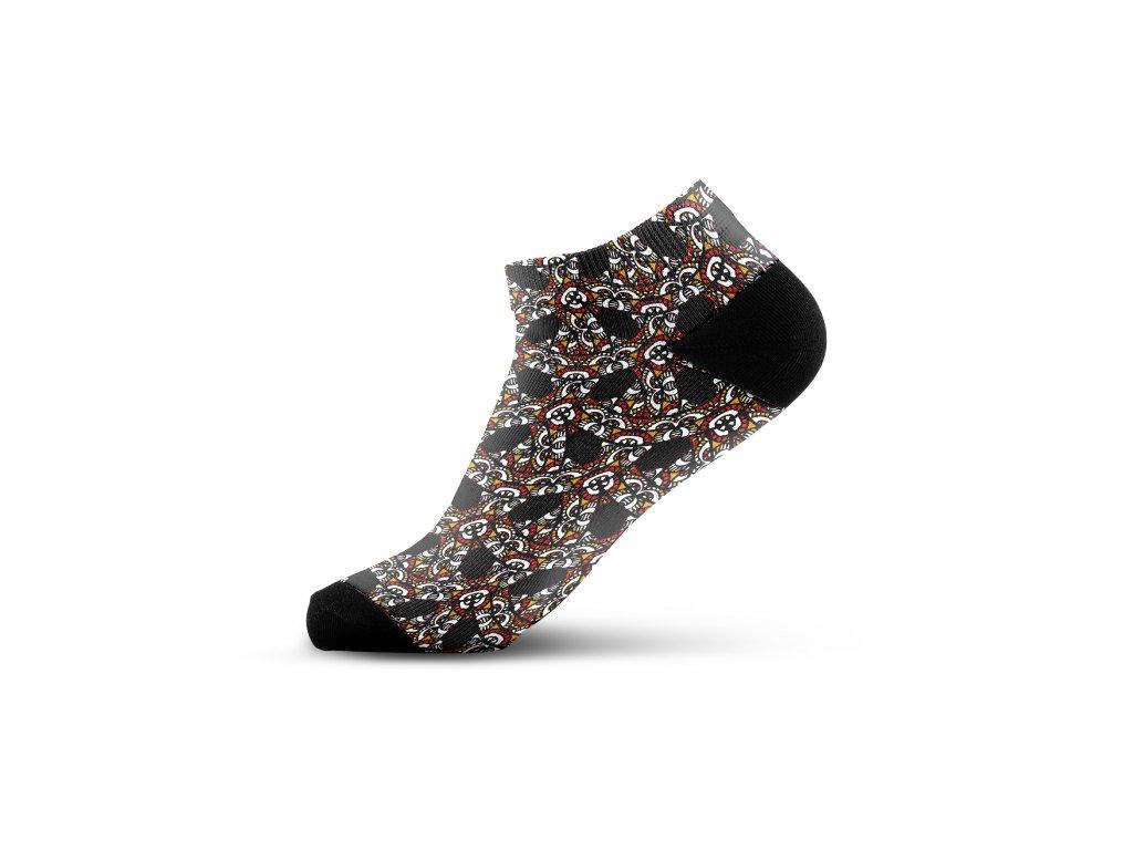 Walkee barevné kotníkové ponožky - Kaleidoskop