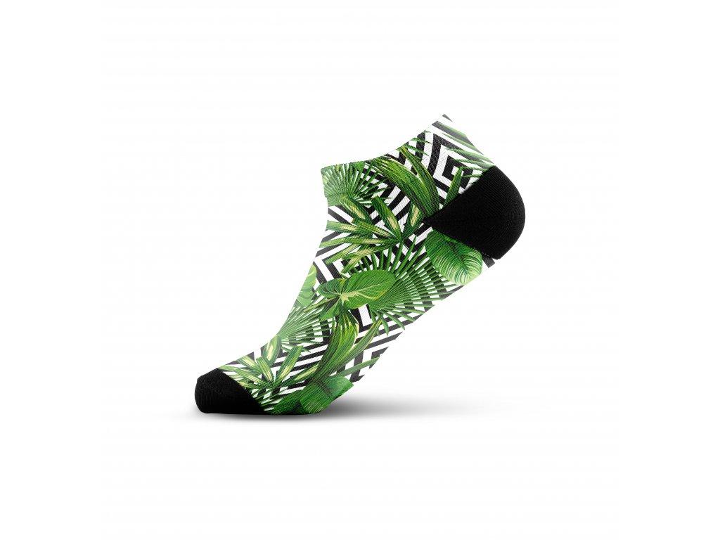 Walkee barevné kotníkové ponožky - Leaf illusion