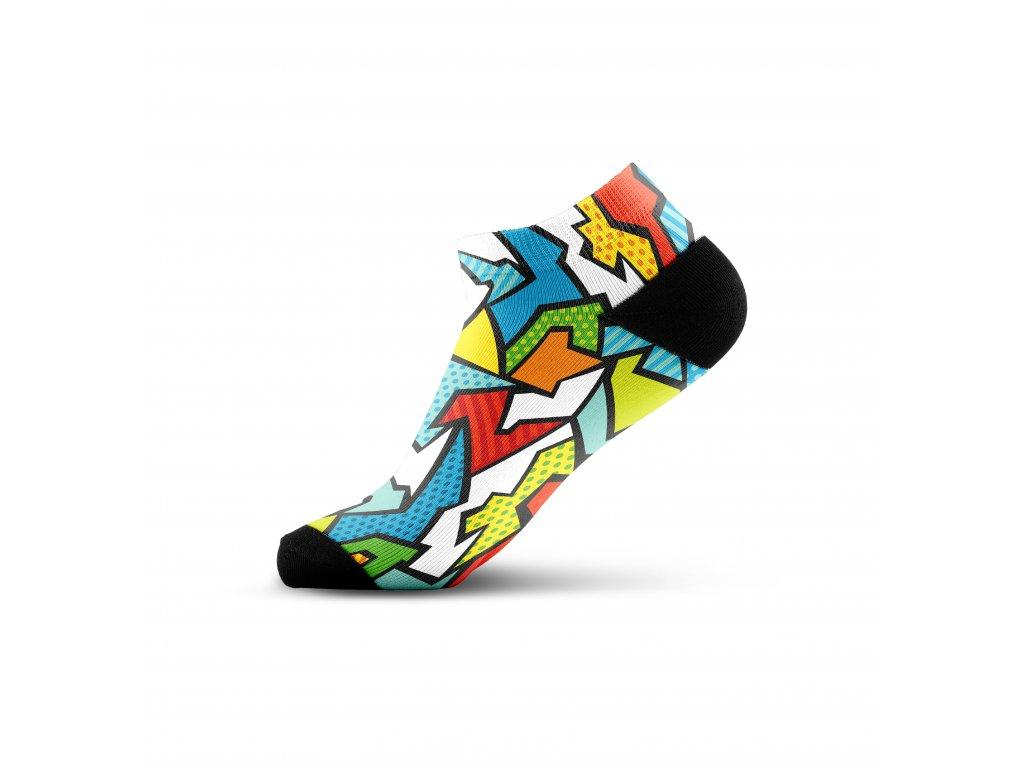 Walkee barevné kotníkové ponožky - Mozaik