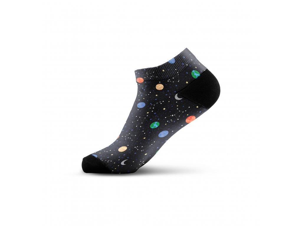 Walkee barevné kotníkové ponožky - Night sky