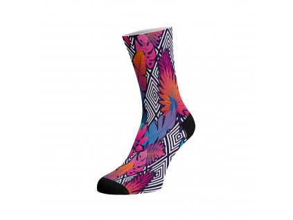 Walkee barevné ponožky - Purple Leafs