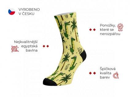 Walkee barevné ponožky -  Alligators