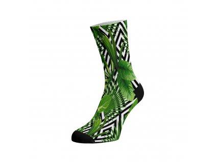 Walkee barevné ponožky - Leaf illusion