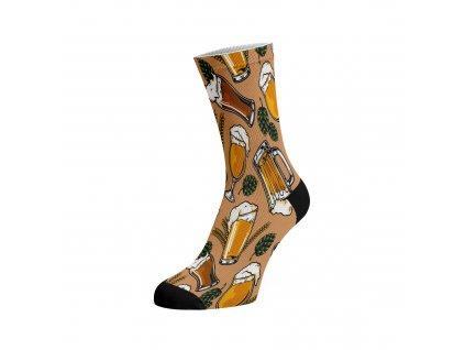Walkee barevné ponožky - Hops and Beers