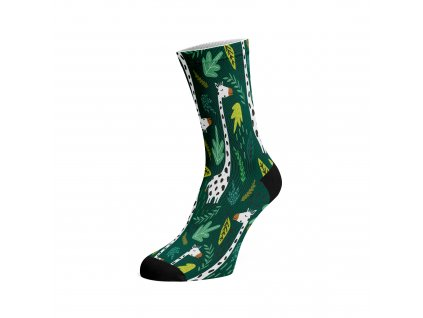 Walkee barevné ponožky - Giraffe in the jungle