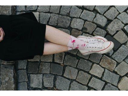 Walkee barevné ponožky - Flamingos