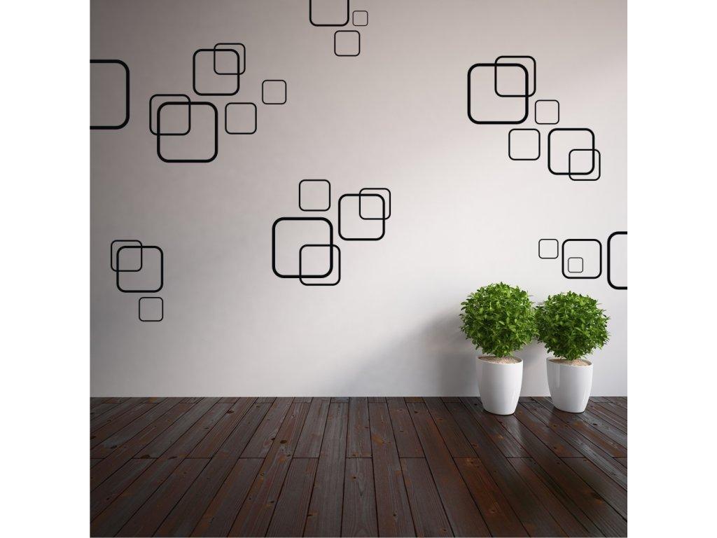 Samolepky na zeď - Čtverce
