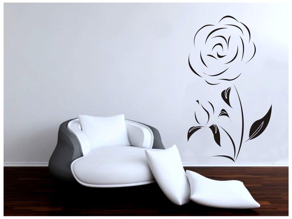 Samolepky na zeď - Růže alone