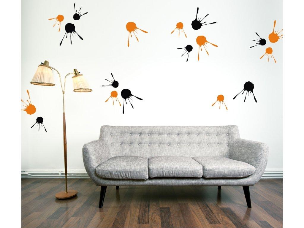 Samolepky na zeď - Paintball