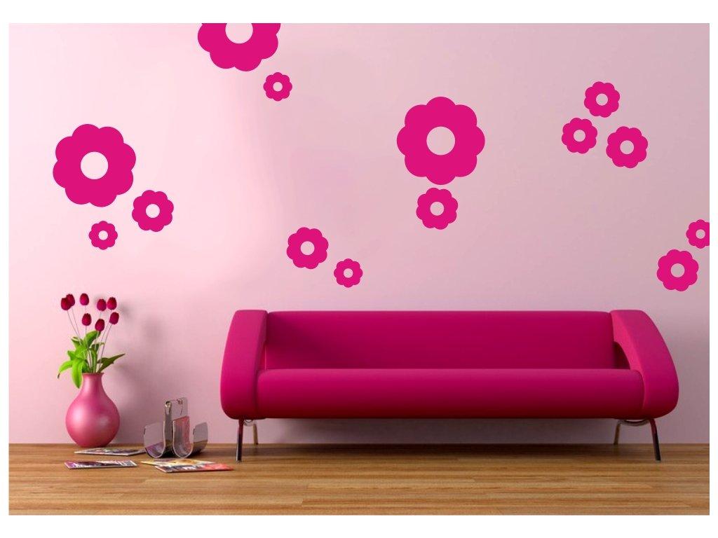Samolepky na zeď - Květy