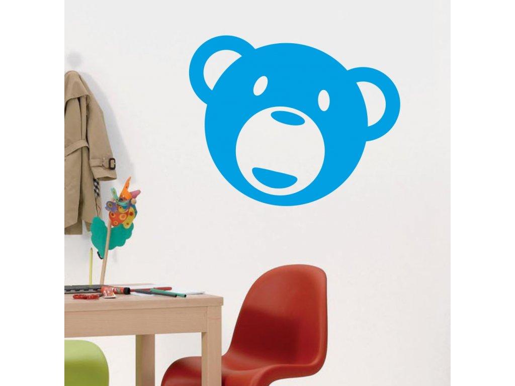 Samolepky na zeď - Hlava medvídka