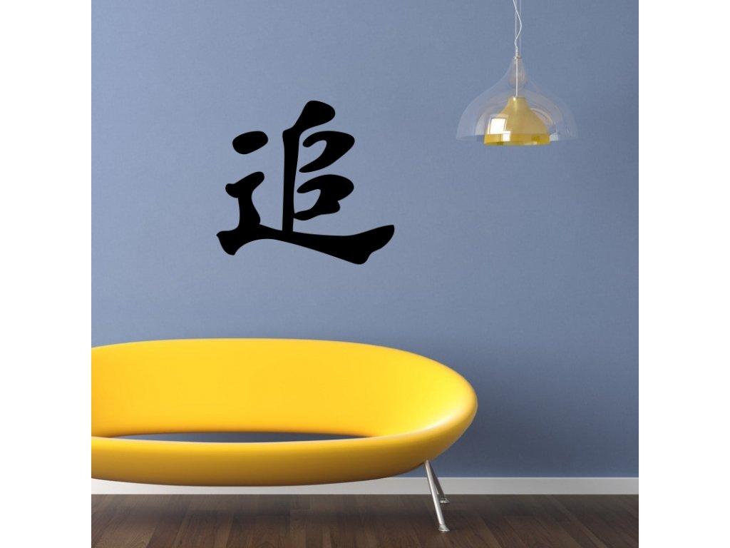 Samolepky na zeď - Čínský znak Snaha