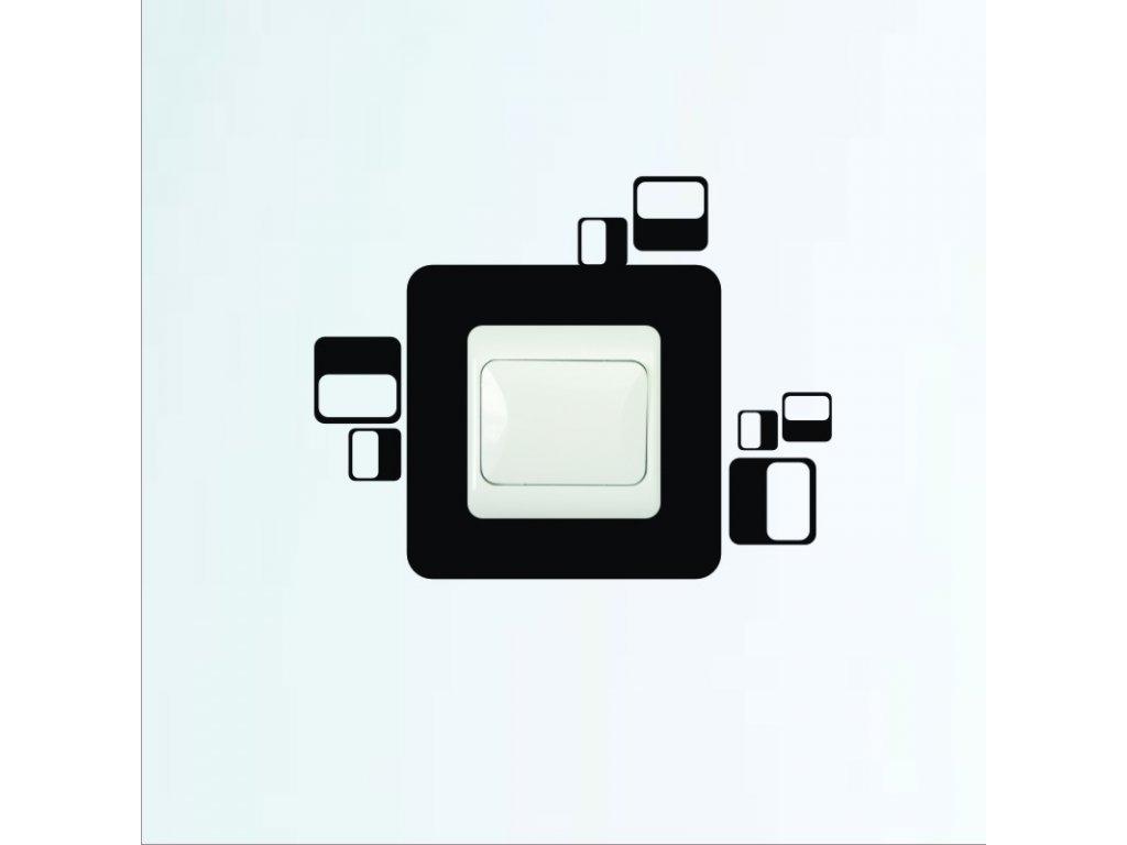 Samolepky na zeď - Vypínač obdélníky