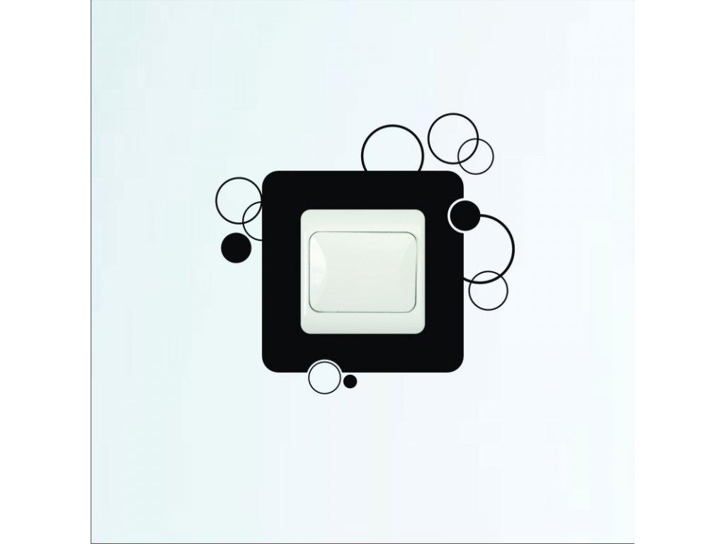 Samolepky na zeď - Vypínač kroužky