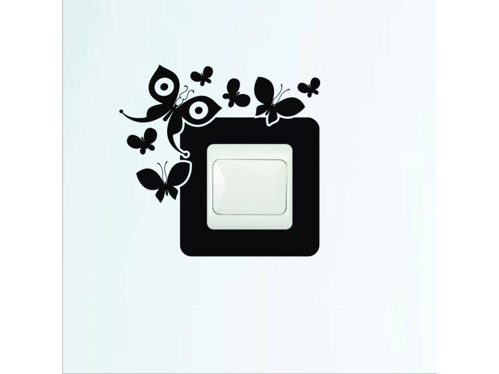 Samolepky na zeď - Vypínač motýli 2012