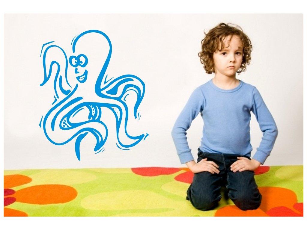Samolepky na zeď - Chobotnice