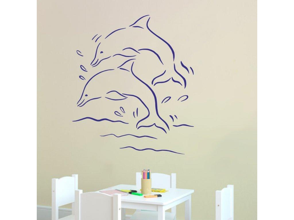 Samolepky na zeď - Delfíni