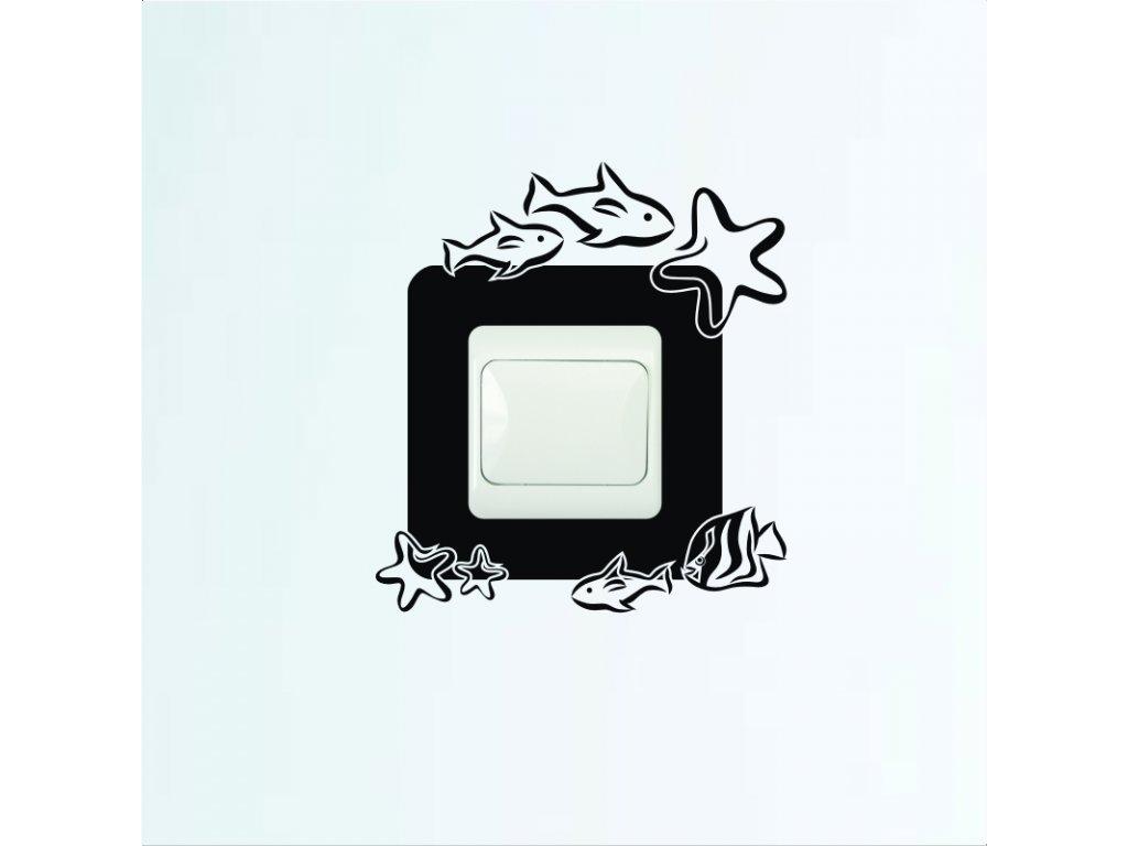 Samolepky na zeď - Vypínač podmořský svět