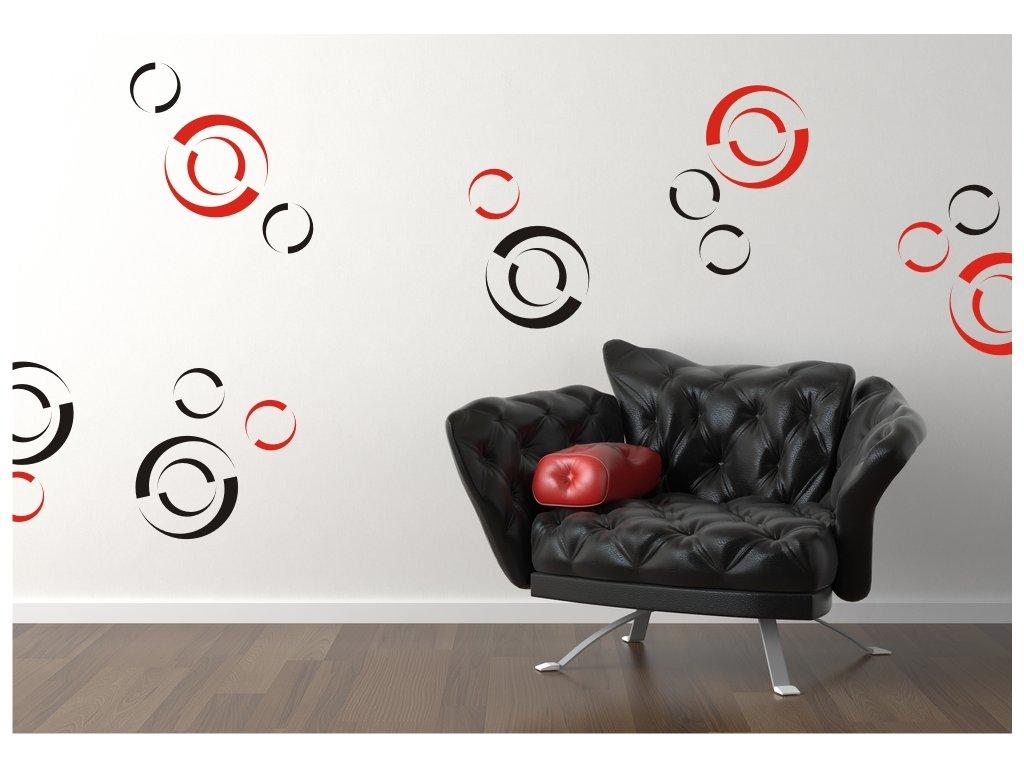 Samolepky na zeď - Spirals