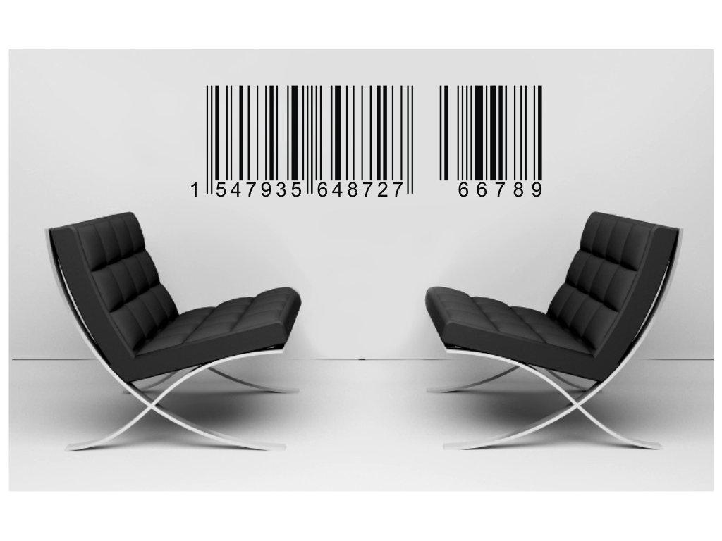Samolepky na zeď - Čárový kód