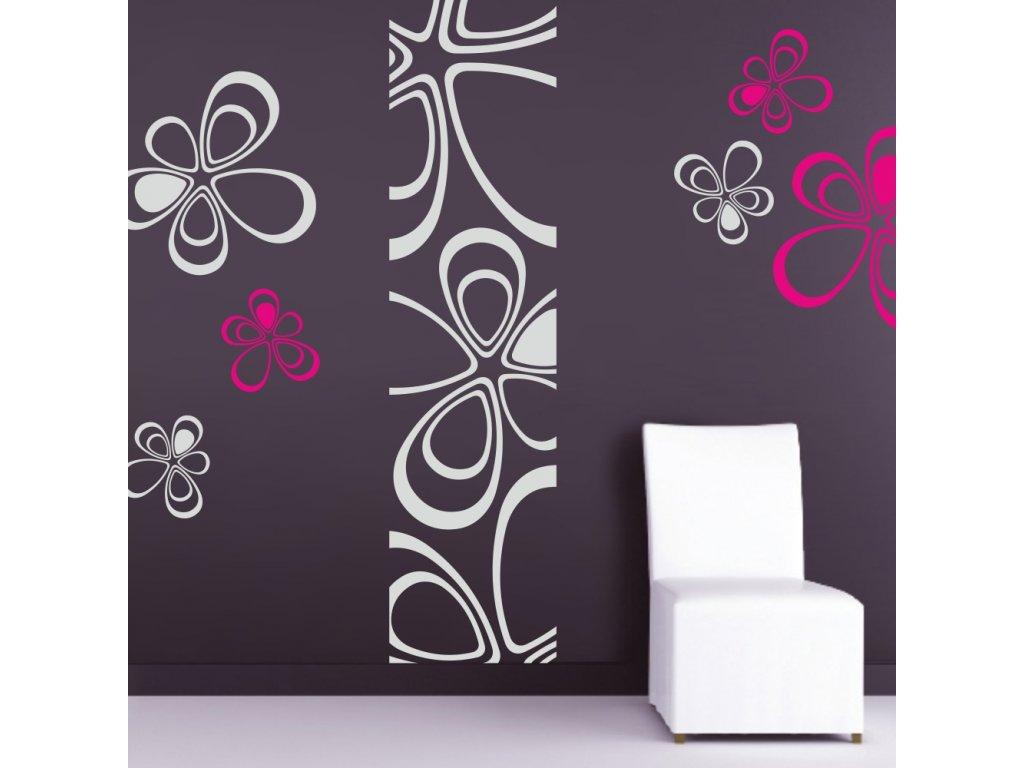Samolepky na zeď - Floral triangles