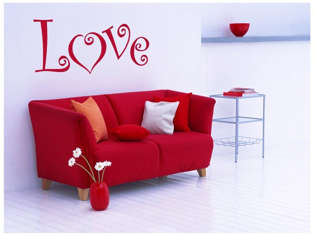 Samolepka na zeď - Love