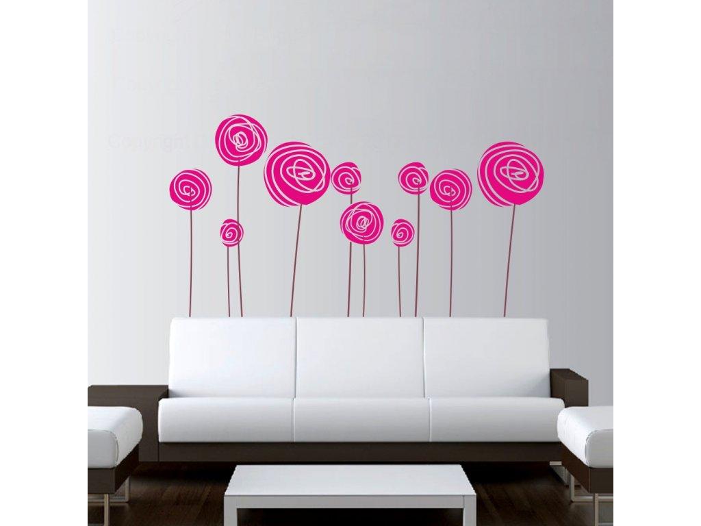 Samolepky na zeď - Zamotané květy