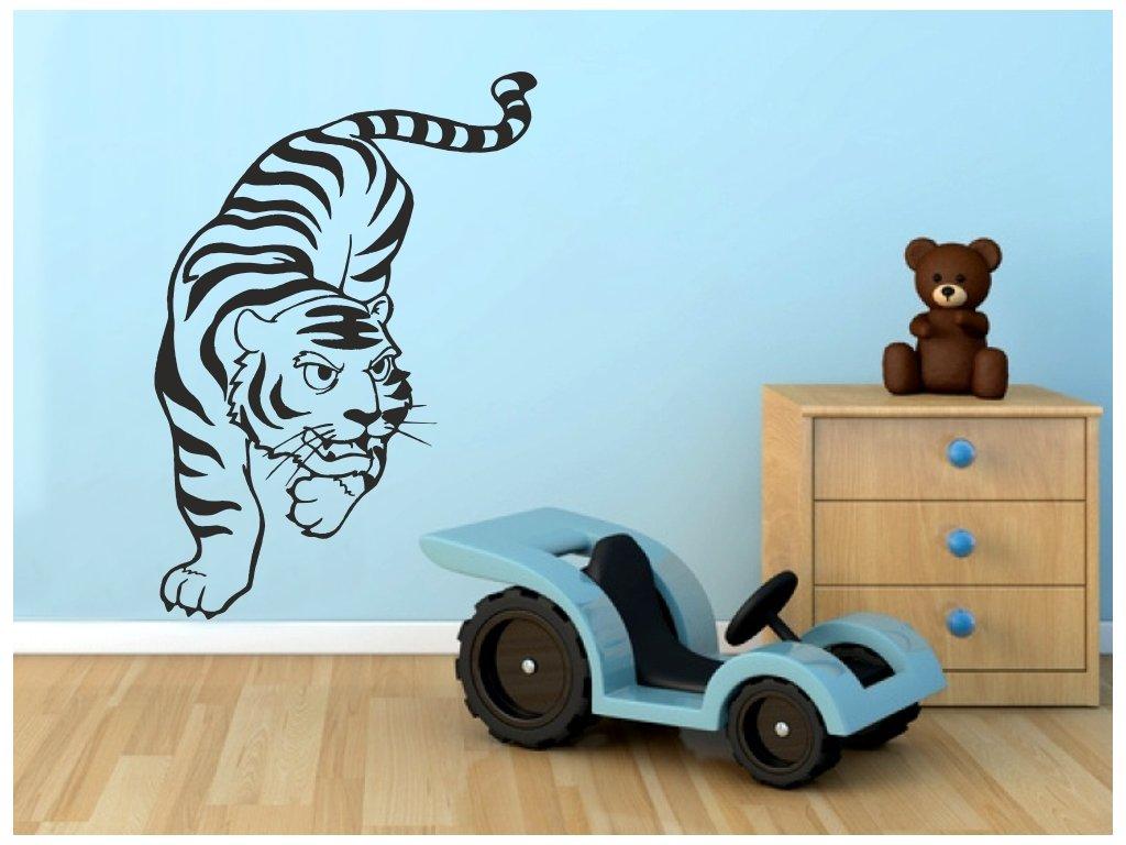 Samolepky na zeď - Tygr na lovu