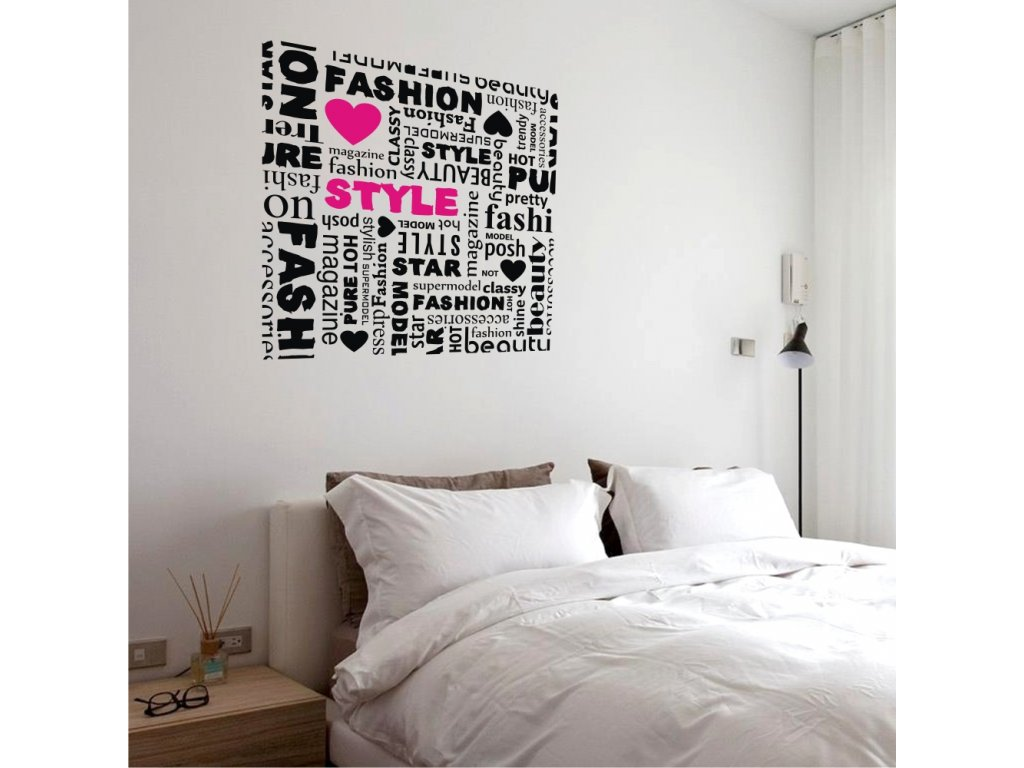 Samolepky na zeď - nápis Love style