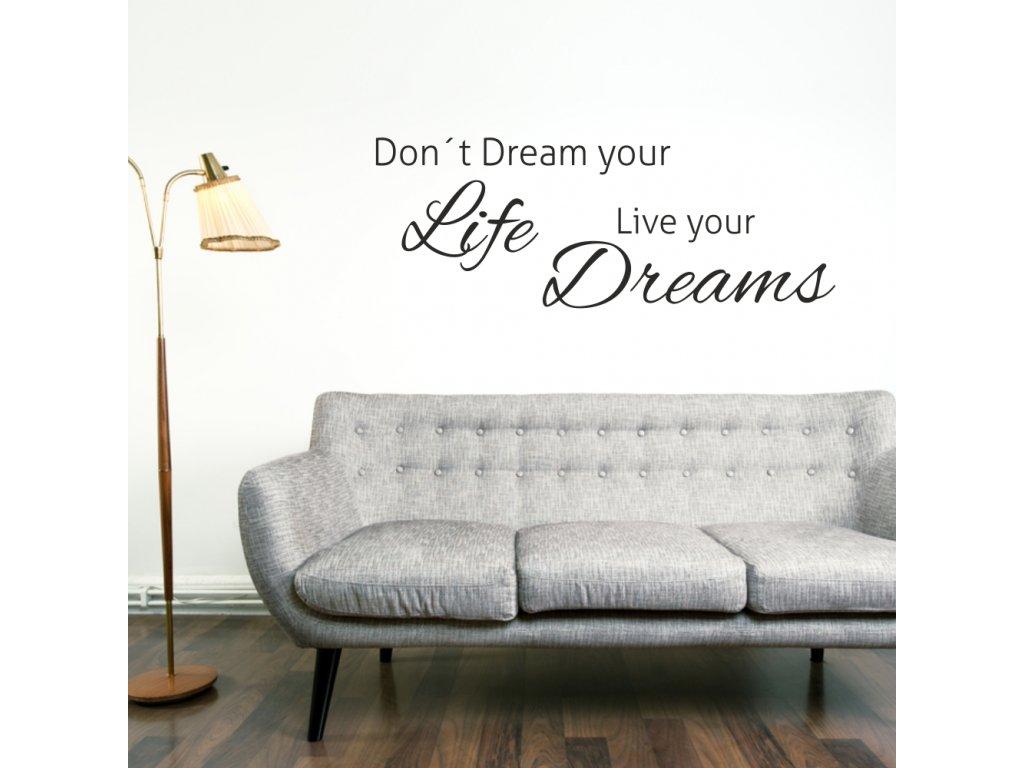 Samolepky na zeď - Live your dreams