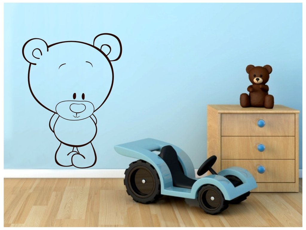 Samolepky na zeď - Medvídek Metyu
