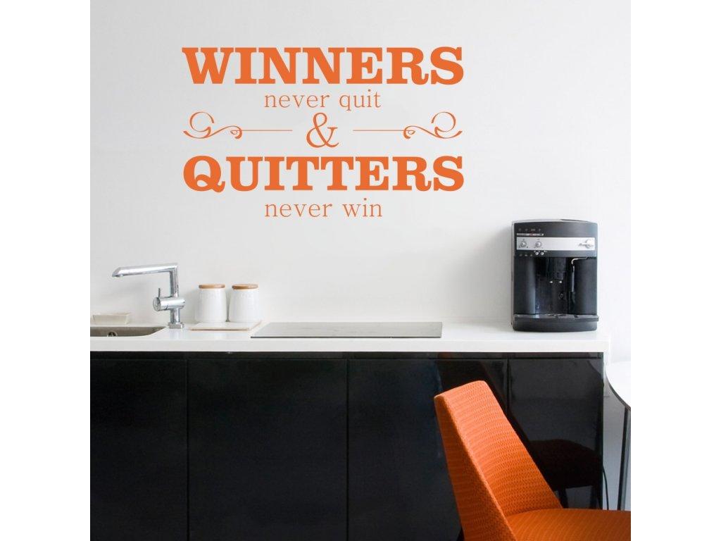 Samolepky na zeď - Winners never quit