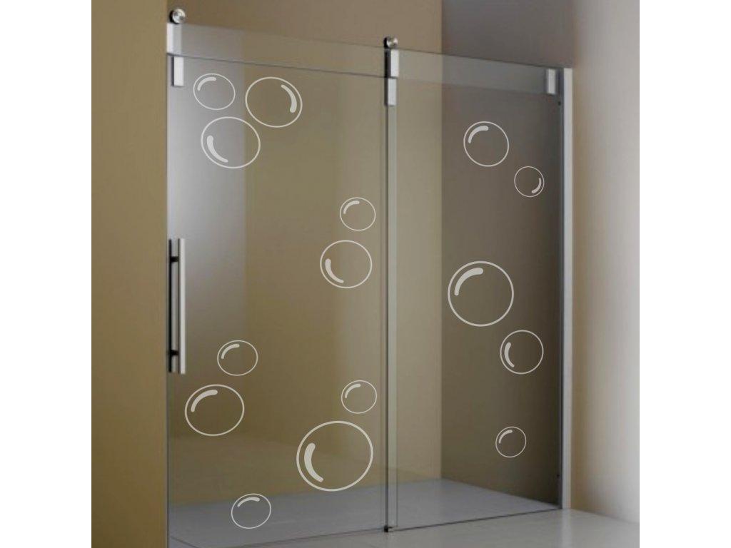 Nalepovací bubliny na sprchový kout  a jiné sklo
