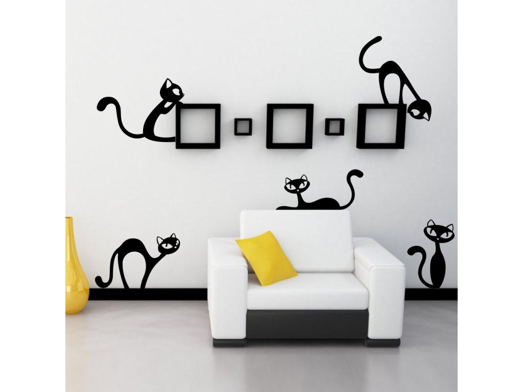 Samolepky na zeď - Nezbedné kočky
