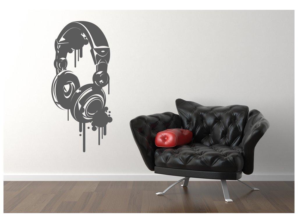 Samolepky na zeď - Headphones