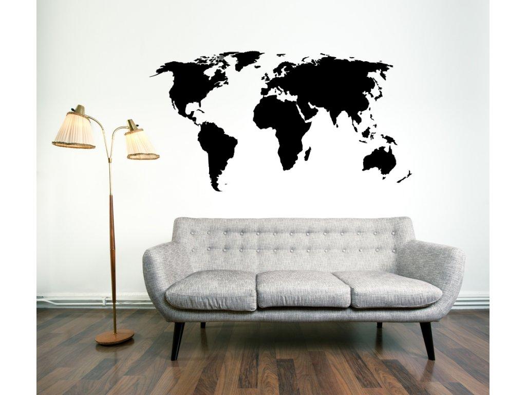 Samolepky na zeď - Mapa světa