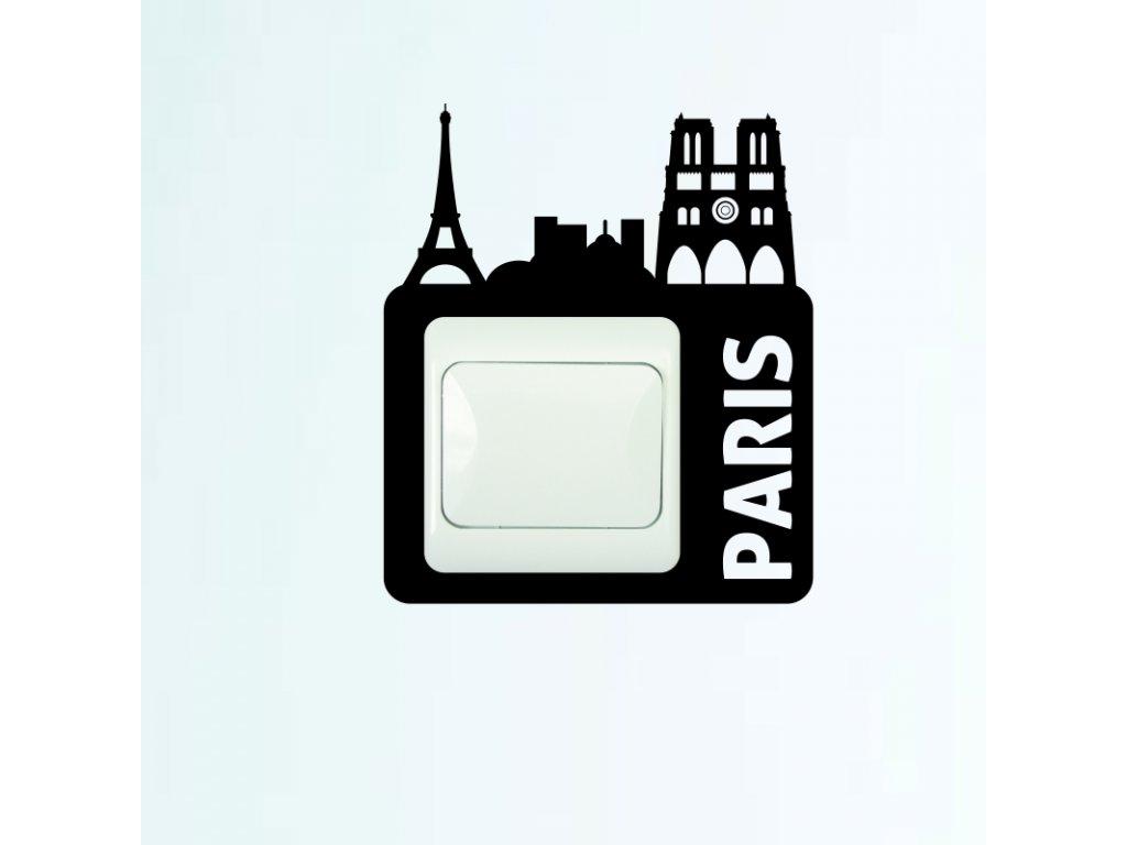 Samolepky na zeď - Vypínač Paris