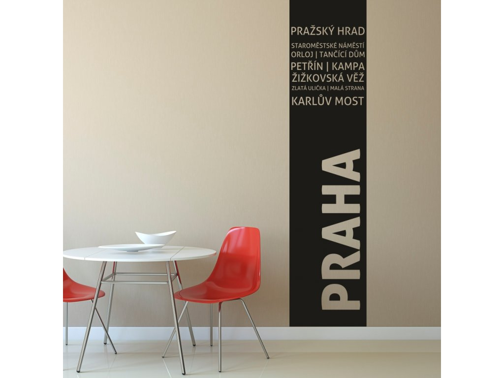 Samolepky na zeď - Pruh Praha