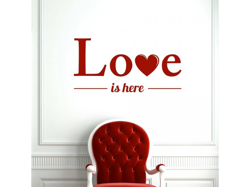 Samolepky na zeď - Love is here