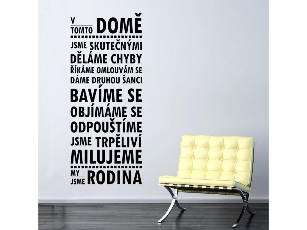 Samolepky na zeď - Český citát V tomto domě