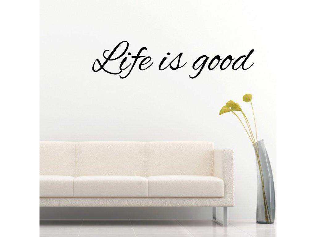 Samolepky na zeď - Life is good