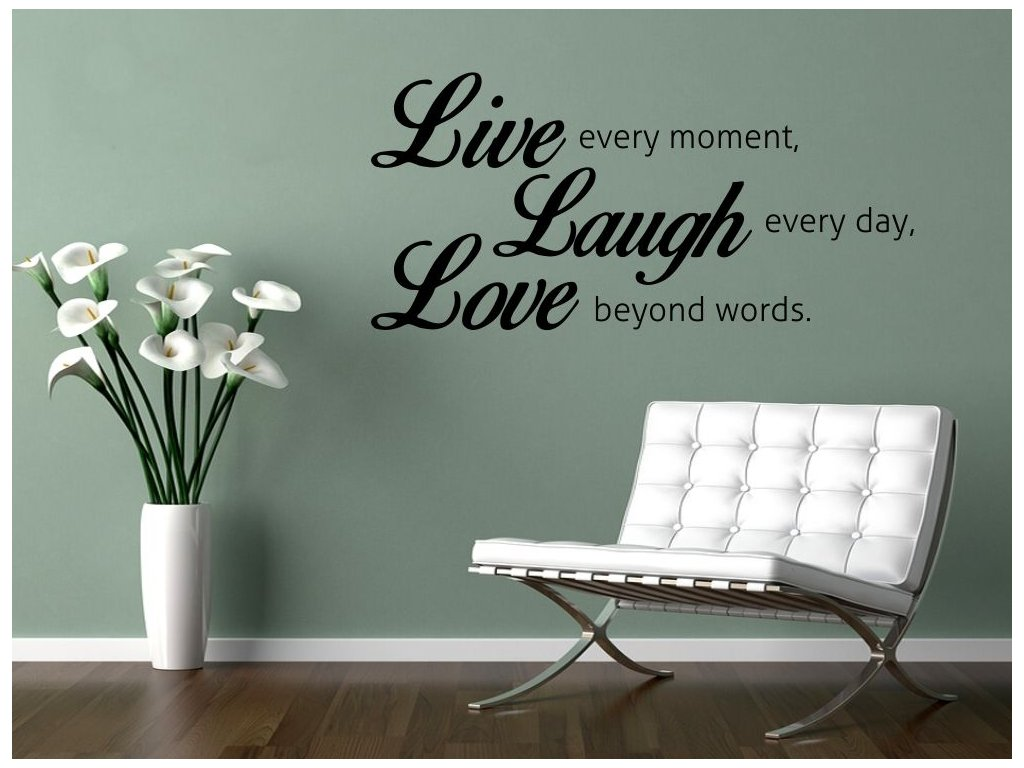 Samolepky na zeď - nápis Live Laugh Love