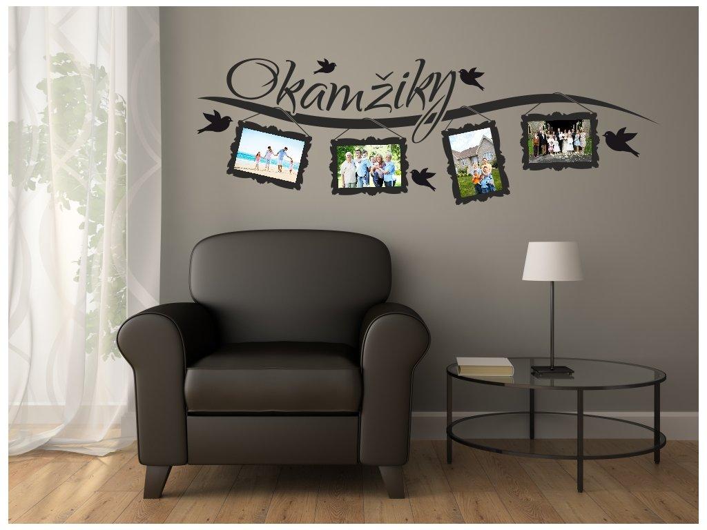 Samolepky na zeď - Okamžiky s Fotorámečky